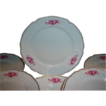 Rosenthal Sanssouci Pink Roses 8&quot; Plates Set of 9