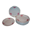 Rosenthal Sanssouci Pink Roses Set of 8 Plates