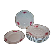SALE Rosenthal Sanssouci Pink Roses Set of 8 Plates