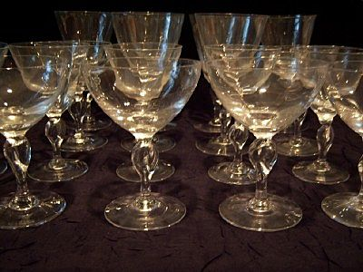 Royal Brierley Crystal Stemware set of 18