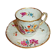 SALE Gustave Demartial Limoges 1883-1893 Demitasse Cup and Saucer