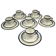 SALE Cauldon of England Antique 18 Piece Demitasse Set For Higgins & Seiter Of New York