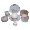 Antique Pink Floral China Set B.S.M. Brothers Schwalb Czech Republic 1882-1891
