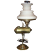 Rare Antique Student Lamp with Custard Glass Shade