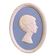 SALE Wedgwood Jasperware Portrait Medallion The Princess Margaret Limited Edition No. 14 of 10