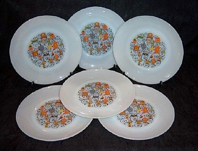 Set of 6 Anchor Hocking 'Homestead' Dinner Plates