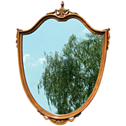 SALE Striking Shield Wood Framed Mirror