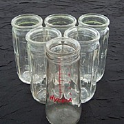 SALE Set of 6 Vintage 1930's Nursing Bottles