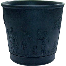 Antique Wedgwood Black Basalt Cup Beaker