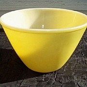 SALE Fire King Yellow Splash Proof Bowl