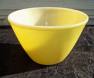 Fire King Yellow Splash Proof Bowl