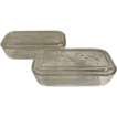 Pair of Hazel Atlas Ivy Refrigerator Dishes