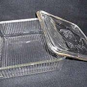 SALE Depression Glass Refrigerator Dish by Federal Glass Co.