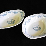 SALE Pair Oval Serving Bowls John Maddock & Sons 'Heumann'