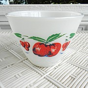 SALE Anchor Hocking Fire King Apple Grease Jar Base Bowl