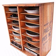 SOLD Early Wooden Pie Safe Store Shelf 'Paul's Pies Inc. Buffalo, NY'