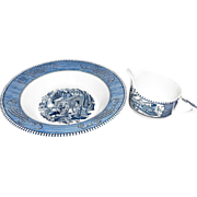 SALE Currier & Ives Vegetable Bowl and Bonus Creamer