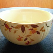 SALE Hall Jewel Tea Autumn Leaf Large Mixing Bowl