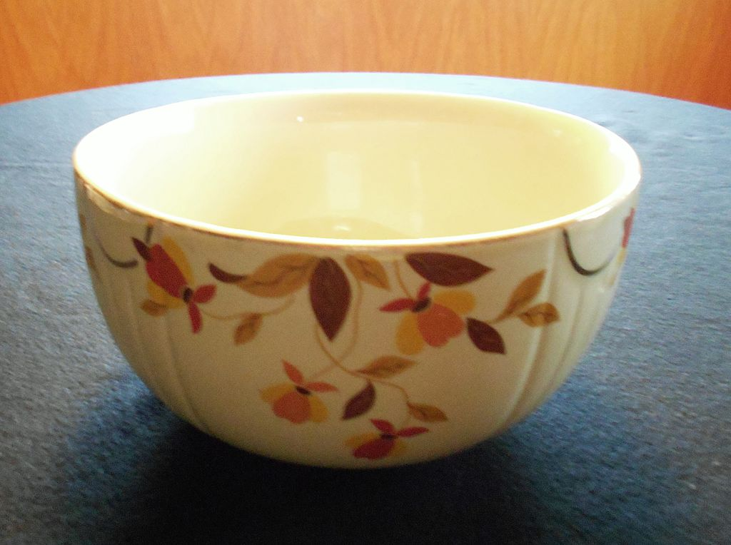 Hall Jewel Tea Autumn Leaf Large Mixing Bowl