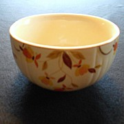 SALE Hall Jewel Tea Autumn Leaf Small Mixing Bowl