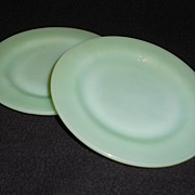 SALE Pair of Fire King Jadite Restaurant Ware Bread Plates