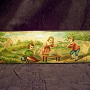 SALE Early Century Wooden Pencil Box