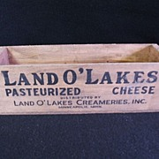 SALE Land o' Lakes Cheese Wooden  Box