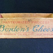 SALE Vintage Borden's Cheese Wooden Box