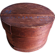 SALE Antique Round Wooden Cheese Pantry Box