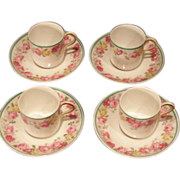 SALE D&C France Limoges For Higgins and Seiter NY Demitasse Set