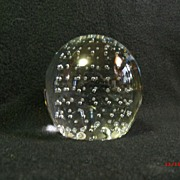 SALE Controlled Bubble Hand Blown Paperweight