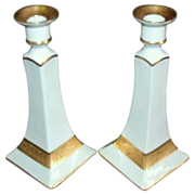 SALE Bernardaud & Co  Limoges  Candlestick Holders