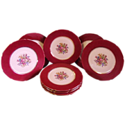 SALE Beautiful Set of 10 Floral Plates by Royal EPIAG