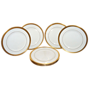 SALE Set of 8 Gold Encrusted Plates by Syracuse China