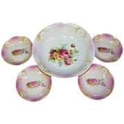 SALE Antique Bavarian Porcelain Berry Set