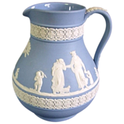 SALE Wedgwood Jasperware Etruscan Jug Pitcher
