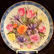 "SOLD ""The Flowers of Holland"" Limited Edition Plate Danbury Mint"