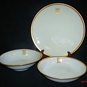 SALE Antique Monogrammed Serving Set  by T&V Limoges