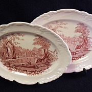 SALE Taylor Smith & Taylor English Abbey Transferware Platters