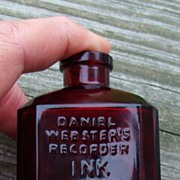 SALE Wheaton Ruby Glass Bottle Daniel Webster's Recorder Ink