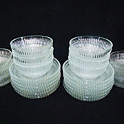 SALE Italian Heavy Crystal 24 Pc. Dessert Set