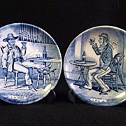 SALE Two Delfts Art Plates by Boch