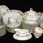 SOLD Large Set of Beautiful Edelstein Bavarian China Luisa Pattern