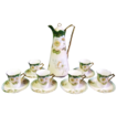 Prussia Beyer & Bock Royal Rudolstadt Porcelain Chocolate Set