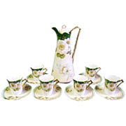 SALE Prussia Beyer & Bock Royal Rudolstadt Porcelain Chocolate Set