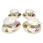 SALE Coalport Bone China  'Caughley Sprays' Demitasse set