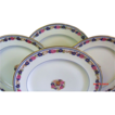 Set of 6 Antique Floral Plates by A. Ahrenfeldt Limoges for Ovington Bros.