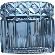 SALE Set of 4 Cut Crystal Oval Holders