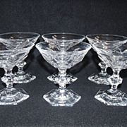 SALE Set of 6+ Fine Crystal Sherbet/Champagne Stems