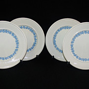 SALE Set of 4 Wedgwood Queen's Ware Plates